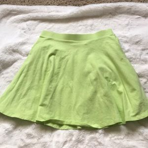 NWOT? lime green skater skirt
